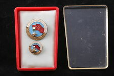 Hungary Hungarian Badge Excellent Perfect Worker Light Industry box medal Soviet