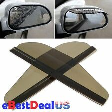 Flexible Rear View Side Mirror Sun Visor Shade Rain Shield Board Smoke Pair