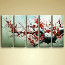 Large Abstract Floral Painting Plum Blossom Tree On Canvas Art Print Framed