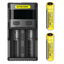 Nitecore Superb Charger SC2 - Selectable 3A charging speed w/2x NL189 Batteries