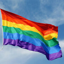90 x 150 cm Rainbow Flag Polyester for Lesbian Gay Bisexual Transgender BY
