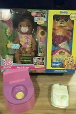HASBRO BABY ALIVE GO BYE BYE WITH POTTY CHAIR AND PACIFIER !  AFRICAN AMERICAN