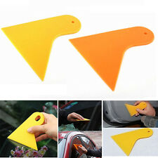 Car Stickers Scraper Plate Glass Yellow and Orange Plastic Film Tools AU SE E4