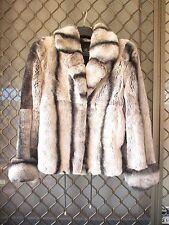 Rex Rabbit Fur Jacket Coat furcoat  sz M/L amazingly soft chinchilla look sexy