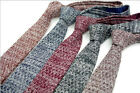 Men Wool Blend Knit Knitted Flat Slim Narrow Rare Mixed Solid Tie Necktie new