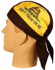DON'T TREAD ON ME SKULLCAP HEAD WRAP ** MADE USA **  SWEAT BAND GADSDEN