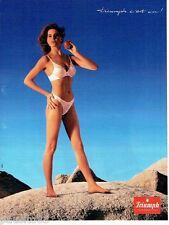PUBLICITE ADVERTISING 116  1988  Triumph  sous vetements soutien gorge