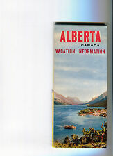 1961 Alberta Province-issued Vintage Road Map