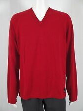 Nautica NWT Mens Sweater Loft Red PLUS Size XL 100% Cotton V Neck  FLAWLESS $70