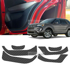 Carbon Black Door Decal Sticker Cover Kick Protector For FORD 2016-2017 Explorer