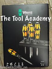 Wera Tools NEW BOXED 932/6 Kraftform Impact Hammer Top Screwdriver Set PH + FLAT