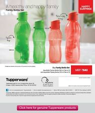 Tupperware Aqua Safe ECO Sports + Aqua Safe Flip Top Water Bottles  COMBO
