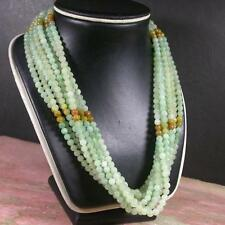 Green Yellow 100% Natural A JADE Jadeite Bead beads Necklace 20 inches 407387