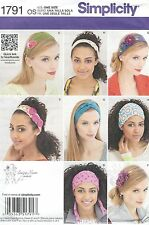 Simplicity 1791 Misses' Hair Accessories     Sewing Pattern