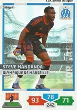 OM-TG4 STEVE MANDANDA # TOP GARDIEN MARSEILLE CARD ADRENALYN FOOT 2014 PANINI