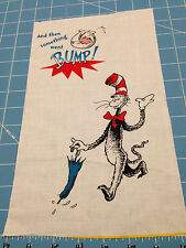 "Fabric Dr Seuss Cat in the Hat Things Go Bump Quilt Sq 7"" X 11 1/2"""