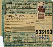 FRANCE COLIS POSTAUX N° 204 SUR BULLETIN D'EXPEDITION DU 20/09/1943