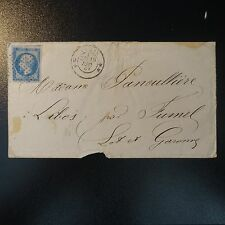 NAPOLÉON N°14 SUR LETTRE COVER OB. CERCLE DE POINT + CAD DOUBLE ÉTOILE PARIS