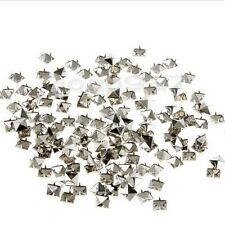 Metal 100PCS Studs DIY 10mm Rivet Spikes Pyramid For Leather Craft Punk Style