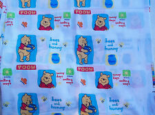POOH Piglet Sunny Days Hunny Bees Cotton Quilt FABRIC 44 x 3 yds. 10 in.