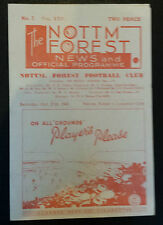 1945/46 NOTTINGHAM FOREST v LEICESTER CITY   *Very Good Condition