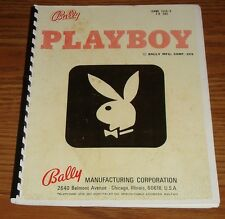 Bally Playboy pinball machine manual complete