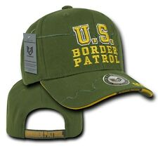 Olive Green Border Patrol Police Cop Sheriff Shadow Adjust Baseball Ball Cap Hat
