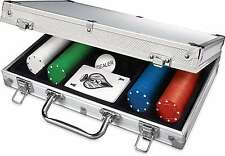 Set Poker Aluminum Case 200 Chips Poker chip Casino Texas Holdem Black Jack Card