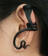 Halloween Scary Black Snake Cobra Ear Cuff Clip Wrap Stud Earring Gothic Punk