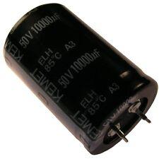 Kondensator KEMET ELH Elko 10000uF 50V 30x45mm 2 Pin Snap-in 85°C RM10 854368