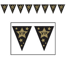 Hollywood Award VIP Flag PENNANT BANNER Hanging PARTY DECORATION Movie Night
