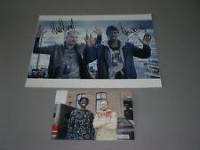 Huub Smit & Sergio Hasselbaink POPOZ New Kids signed Autogramm auf 20x28 Foto