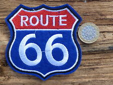 ECUSSON PATCH THERMOCOLLANT aufnaher toppa ROUTE 66 road vetement  / 8.7X8.5CM