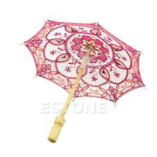 Mini Lace Embroidered Parasol Umbrella For Bridal Wedding Party Decoration New