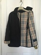 AUTHENTIC BURBERRY LONDON BLACK QUILTED JACKET SIZE MEDIUM UK 12-14