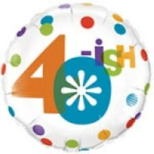 "40ish Balloon 18"" Birthday Party fourty fortieth 40th decorations foil mylar"