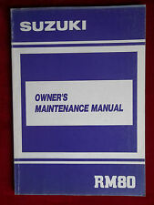 1990 RM80 RM 80 Year Code L Suzuki Owners Manual S1005
