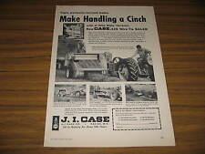 1958 Vintage Ad Case Tractor Pulls 135 Wire Tie Baler Racine,WI