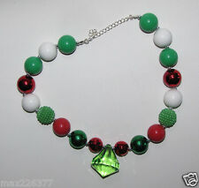 New Acrylic Chunky Beads Bubblegum Gumball Jewlery GIRL Necklace CHRISTMAS