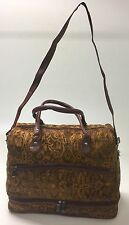 Raviani Brown Chenille Tapestry Carry On Bag