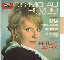 PETULA CLARK DIS MOI AU REVOIR + 3 TITRES EP45T + LANGUETTE PORT A PRIX COUTANT