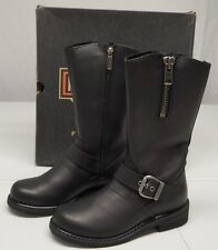 Harley Davidson Womens 6 M Black Leather D87007 Motorcycle Boots NIB