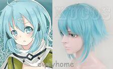 Sword Art Online SAO Season 2 GGO Sinon Asada Shino Short Anime Cosplay Wig
