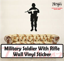 Military Soldier With Rifle Wall Vinyl Sticker