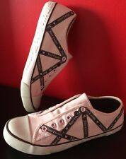 NEW Juicy Couture Dara  Alva Pink Canvas Shoes 10 M