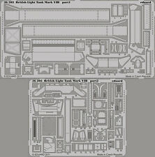 EDUARD 1/35 PHOTO-ETCHED DETAIL SET for VULCAN BRITISH LIGHT TANK MK.VI B #56008