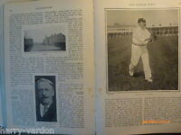 Old Photo Article 1904 Hirst Yorkshire Cricket Kirkheaton Cowes Goodwood Archery