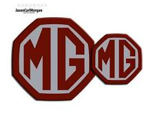 MG ZR LE500 MK2 Front & Rear Insert Badge Logo Set 59mm/95mm Burgundy/Silver