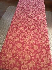 "Pottery Barn #94144264/2007 Tablecloth 70""x108"" Red & Tan Floral Jacquard"