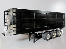 Custom 3-Axles Aluminum Bed Trailer for Tamiya R/C 1/14 King Grand Hauler Truck